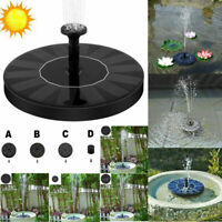16cm Outdoor Solar Powered Floating Bird Bath Water Fountain Pump Garden Pond