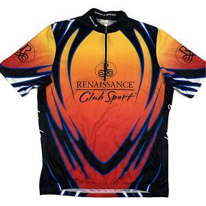 Sugoi Renaissance Club Sport 1/4 Zip Cycling Jersey Mens 2XL XXL