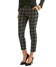 NWT VINEYARD VINES WOMENS HOLIDAY TARTAN PLAID WOOL ANKLE PARTY PANTS 0