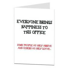 Rude Leaving New Job Retirement Card Funny Humour Cheeky Joke