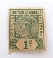 .BRITISH HONDURAS QV 1c MH, NICE GRADE STAMP.