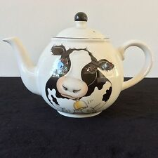 New listing Arthur Wood Cow Teapot Tea Coffee Pot Holstein Front Back Design Made In England