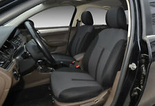 Black Car Seat Front Semi-Custom Fabric to Truck SUV Van 8161