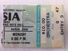ASIA - Rare Vintage Ticket Stub - May 10, 1982  EJ Thomas Hall, Akron, Ohio