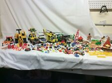 HUGE lot of Playmobil people, vehicles, construction, animals, barn & more !