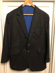 Beautiful vintage Savile Row Holland & Sherry bespoke charcoal grey wool suit