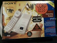 Sony SPP-AQ25 Cordless Telephone With Answering System In Original Box 0001