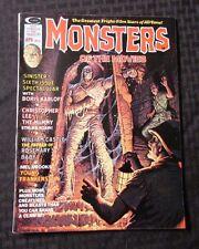 1975 MONSTERS OF THE MOVIES Curtis Magazine #6 VF Boris Karloff
