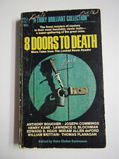 8 Doors to Death ed. by Hans Stefan Santesson Dell Books 1970 Vintage Paperback