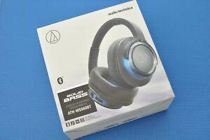 Audio-Technica ATH-WS660BT Wireless Bluetooth Headphones - Black/Gray/Blue