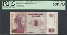 Congo Democratic Republic 50 Francs 4-1-2000 P91a Uncirculated Graded 68