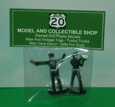 Two 1/43 Scale Police Officer Figures - Speed Trap Diorama Policeman Accessories