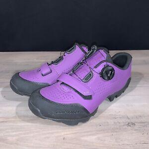Bontrager Foray Women's US Size 6.5 (EU 38) Mountain Bike Purple Cycling Shoes