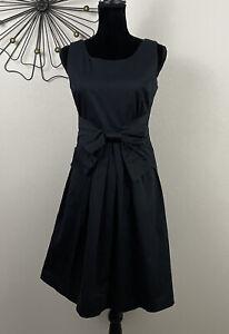 Kate Spade Womens Size 4 Black Bow Waist Sleeveless Dress