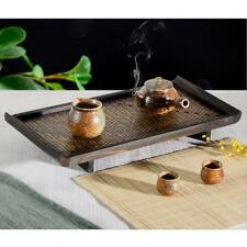 Hotel Household Serving Tray Bamboo Creative Fruit Tea Food Dinner Plate L
