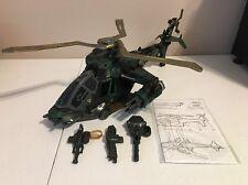 GI Joe vs Cobra Night Attack Chopper Helicopter Dark Green Camouflage Blueprints
