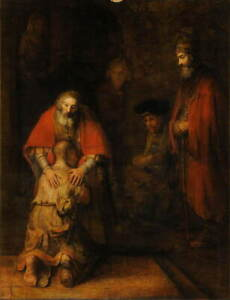 Rembrandt The Return of the Prodigal Son Giclee Canvas Print Poster LARGE SIZE