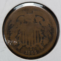 1865 2c TWO-CENT PIECE LOT#M754