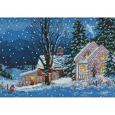 Dimensions Needlecrafts Quiet Night Gold Petite Counted Cross Stitch Kit