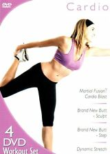 Cardio Workout 4-Disc Exercise DVD Set REGION 1 BRAND NEW SEALED