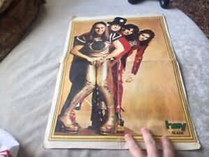 SLADE 1970s MAGAZINE POSTER from MIDDLE EAST ! ONLY KNOWN old ITEM of the BAND