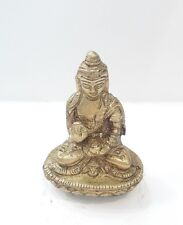 "BUDDHA STATUE 2"" Meditating Deity HIGH QUALITY 100% pure brass free Shipping"