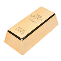 1 Pcs Beautiful Brick Ingot Gold Bar Replica Props Nice Gift Decoration MoviRKCA