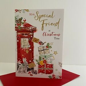 Jonny Javelin Special Friend Christmas Time Card Post Box Rabbit/XSR21
