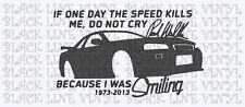 "paul walker R.I.P GTR 7"" vinyl decal sticker"