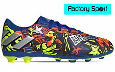 Adidas Nemeziz  Messi 19.4 fxg jr taco azul plata botas de fútbol para Niño