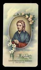 "santino-holy card""""ediz. FB*** n.310 S.BERNADETTE SOUBIROUS"