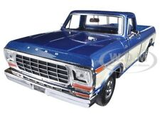 1979 FORD F-150 PICKUP TRUCK BLUE/CREAM 1/24 DIECAST MODEL CAR BY MOTORMAX 79346