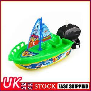 Mini Clockwork Boat Speedboat Toy Children Kids Float Pool Water Sailboat Toys