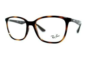 NEW RAY-BAN RB 7066 5577 BROWN HAVANA AUTHENTIC EYEGLASSES FRAMES 54MM RX W/CASE