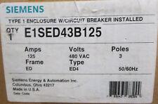 Siemens 125 amp Circuit Breaker Enclosure E1SED43B125  UPC# 783643283244 *NIB*