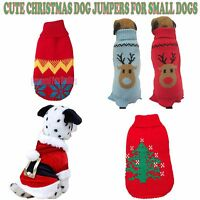 NEW CUTE CHRISTMAS DOG PET JUMPER SWEATER SANTA COAT FOR SMALL DOG OR PUPPY