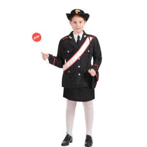 Vestito Costume Carabiniere Donna 8/9 anni Carnevale Pegasus Party