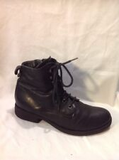 Jones Boot Maker Black Ankle Leather Boots Size 35
