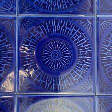 More details for batch of 64 reclaimed vintage cobalt blue tiles