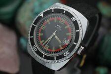 Vintage PAT Antichoc Hand Wind Diver Black Glossy Dial Diver Sport Watch