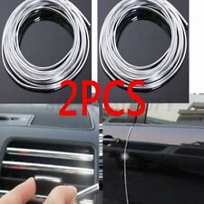 2pcs 20ft Chrome Moulding Trim Strip Car Door Edge Scratch Guard Protector Cover