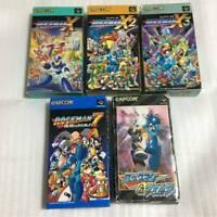 SFC Capcom Rockman Megaman 7 X1 X2 X3 Forte SET COMPLETE Game super Famicom SNES