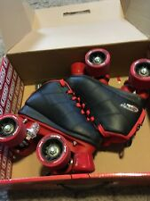 Crazy Skates | ROCKET Boys Kids Roller Quad Speed Rollerskates | Size J12
