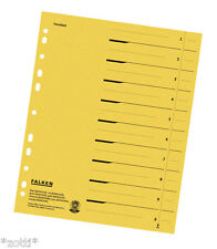 File Dividers Yellow Index Depositors Box For A4 Lever Arch File (24x30) Sorting