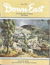 DOWN EAST MAGAZINE~JULY 1976
