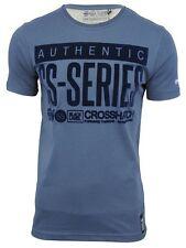 Sombreado manga corta oscura denim azul Camiseta en TALLA PEQUEÑA BNWT