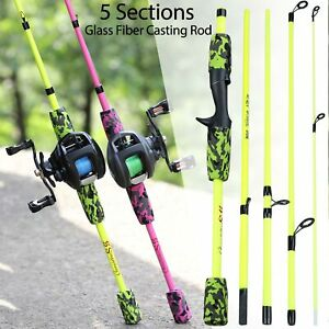 Super Strong Carbon Fiber Casting Fishing Rod Portable Casting Pole Lure Tackle