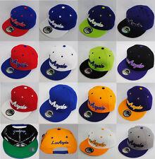 New Ethos Los Angeles Retro Hat Flat Peak Classic Snapback Baseball Cap