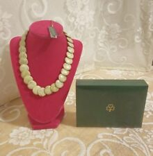 """Connemara Marble Disk 18"""" Necklace with 3"""" Extender, J.C. Walsh & Sons Ltd NIB !"""