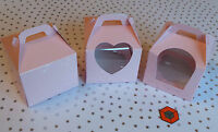 10 or more Premium Single Cup cake Boxes - 💕 Pale Pink 💕 **STAR BUY**
